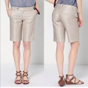 "Anthropologie ""go for the win bermudas"" shorts"